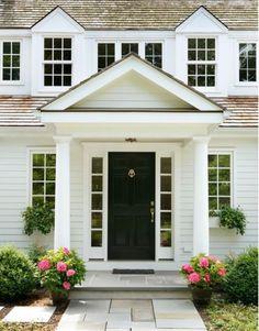 Love the vaulted portico. Houzz.com | Exteriors | Pinterest | Houzz ...