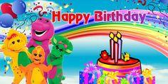 Barney Birthday Banner design 2 by ChinSigntech on Etsy