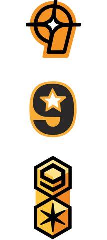 charles s. anderson design co. | Nine Star Logo
