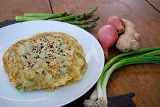 Asparagus, scallion and sesame pancakes | Monterey Bay