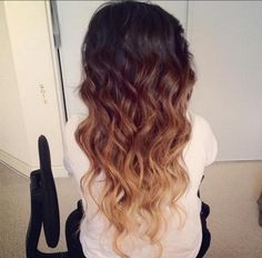 brunette ombre (I'm not really an ombre fan, but I like this better than just the two color ombre)