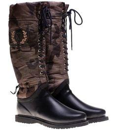 Ilse Jacobsen Rubber + Camouflage Boots