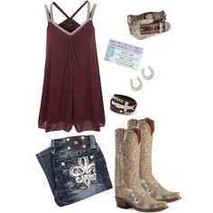 Brantley Gilbert Concert, created by barrelracingbarbie on Polyvore