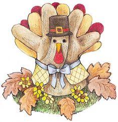 Seasonal Crafts: Make a Glove Turkey (Thanksgiving Table Decoration)