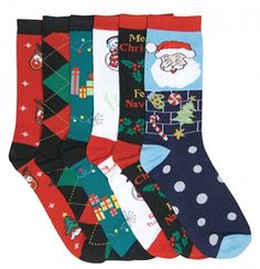 I&S 6 Pairs Crew Socks, Printed Fun Colorful Festive, Crew Knee Cozy Socks Women Fancy Christmas Holiday Design Soft (Christmas Socks Holiday Socks, Christmas Sweaters For Women, Christmas Gifts For Her, Christmas Stockings, Christmas Holidays, Xmas, Amazon Christmas, Merry Christmas, Girls Socks