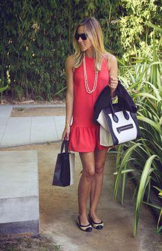 Fun @ FIDM   Damsel in Dior   Top Shop's Shift Dress // Céline Tote // Black Blazer // Chanel Flats & Necklace