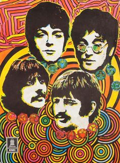 The Beatles Rock Poster