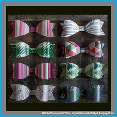 DIY And Household Tips: Paper Bows For Any Holiday Gift