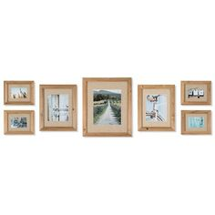 7 Piece Gallery Picture Frame Set ❤ liked on Polyvore featuring home, home decor, frames, motivational frames, inspirational frames, fabric home decor, fabric frames and inspirational picture frames