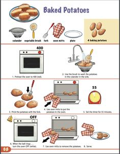 Visual Recipes for Non-Readers - wellness recipes Kids Cooking Recipes, Cooking Classes For Kids, Cooking With Kids, Kids Meals, Easy Meals, Cooking In The Classroom, Preschool Cooking, Food Technology, Assistive Technology