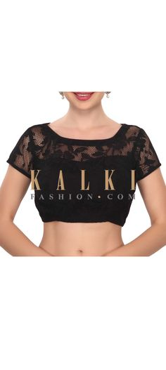 Buy this stylish black lace blouse only on Kalki