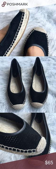 ⚜ Via Spiga Bert Espadrille Flats New, never worn! Perforated suede upper, espadrille trim, round toe.  Happy Poshing! (x trade) Via Spiga Shoes Flats & Loafers