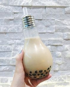 Light Bulb Bubble Tea   I was de-lighted when I saw that this fairly newly opened bubble tea spot offers the classic milk tea in such cute glassware (dine-in only)! Their tapioca is also very fresh and chewy! At first, I thought the drink portion would be very tiny but it was actually quite big Love this place a whole watt