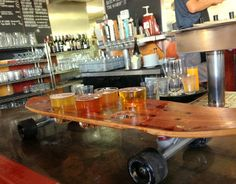 Venice Ale House Skateboard Beer Flights madeinaday.com