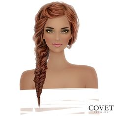 You just can't beat a fishtail side braid. Especially one in this gorgeous color! Loving this COVET-able hairstyle? You can have it!