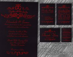 These stunning black & red simple luxury wedding invites are made at my studio nestled in the coastal hills of Californias Santa Cruz mountains.
