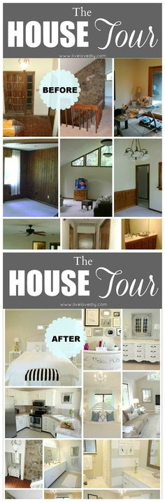 LiveLoveDIY: Our 2013 House Tour... showing before and after pics,  and lots of detailed posts!