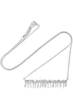 Suzanne Kalan 18-karat white gold diamond necklace