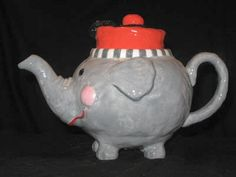"""Elephant"" Teapot by Judie Bomberger"