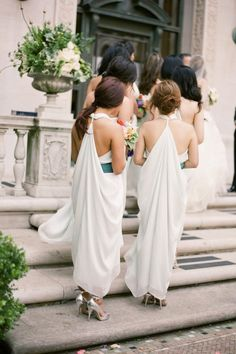 Grecian bridesmaids photographed by Tanya Lippert Photography
