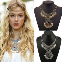 FREE SHIPPINGNWT Boho Chic Statement Necklace This is so pretty ! Gold tone • Double Chain • FREE SHIPPING on all orders from my closet Just offer $6 less using the offer button feature and I will accept right away OR be sure to comment if you are interested in a bundle purchase so I can set up a separate listing just for you to reflect the FREE SHIPPING discount  Southern Britches Jewelry Necklaces