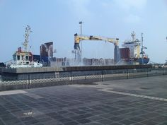 Veracruz, Mexico is a port city with a Mexican Navy port and an important Caribbean shipping port.