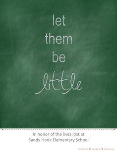 Let Them Be Little #freeprintable via NoBiggie.net