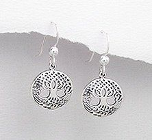 Amazon.com: .925 Sterling Silver Tree of Life French Ear Wire Earrings: Jewelry