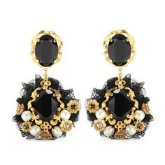 DOLCE CRYSTAL EMBELLISHED CLIP-ON EARRINGS