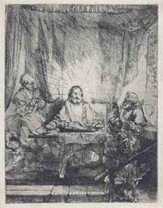 Rembrandt van Rijn, Christus in Emmaus Poster & Leinwand Rembrandt Etchings, Rembrandt Art, Rembrandt Drawings, Leiden, Lucas 24, Dutch Golden Age, Dutch Painters, Dutch Artists, Amazing Drawings