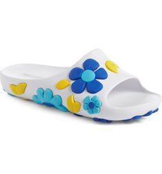 Main Image - Prada Floral Slide Sandal (Women)