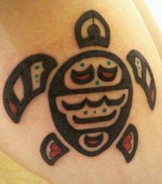 Native American turtle tattoo