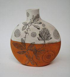 Diana Fayt  orange canteen vase