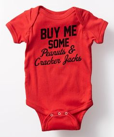 Baby boys baseball buy me some peanuts and cracker jacks bodysuit