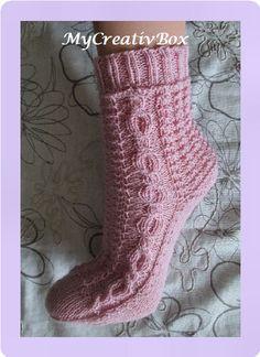 """Socken """"Eiszeit & Co"""" für Gr. 32-47, Anleitung von MyCreativBox, gestrickt mit Sockenwolle 4-fach"""