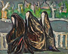 Irma Stern (South African painter) 1894 - 1966 Nuns of Sacré-Coeur, s. The Calling, South African Artists, Impressionist, Modern Contemporary, Auction, Prints, Artwork, Painting, Oil