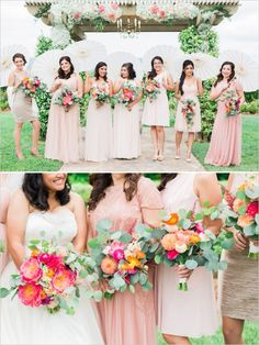 #bridesmaids #parasols #mismatched @weddingchicks