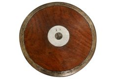 Olympic style English track and field wood sports discus edged in metal, circa Center is stamped: Discus, My Favorite Things, Metal, Wood, Sports, Hs Sports, Woodwind Instrument, Timber Wood, Excercise