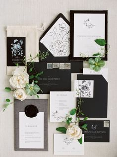 Wedding & Flatlay Styling by Kaleb Norman James Photography by Maria Lamb Paper Goods by Grey & Cake Square Wedding Invitations, Black And White Wedding Invitations, Beautiful Wedding Invitations, Graduation Invitations, Wedding Invitation Wording, Wedding Stationary, Invites, Event Invitations, Invitation Ideas