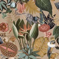 Tropical Wallpaper, Gold Wallpaper, Paper Wallpaper, Wallpaper Samples, Quirky Wallpaper, Amazon Wallpaper, Wallpaper Toilet, Hallway Wallpaper, Wildlife Wallpaper
