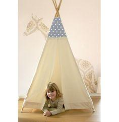 Kinderzimmerdekoration - Kleines Tipi, Mini Zelt, Indianerzelt, Teepee - ein Designerstück von mary-lou27 bei DaWanda