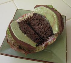 Chocolate & Green Tea Ice Cream Cupcakes