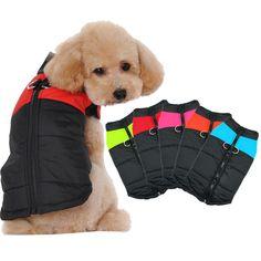 Type: Dog Coat Jacket Vest   Material: Polyester   Size: S/M/L/XL/2XL/3XL/4XL/5XL   Season: Autumn/ Winter   Color: Blue/Pink/Green/Red/Orange   Feature: