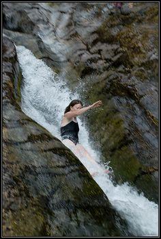 Natural water slide at Opal Creek Wilderness