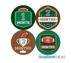 Items similar to Football Monthly Baby Milestone Stickers - Boy Baby Shower Gift - One-Piece Baby Stickers - Monthly Baby Stickers - Baby Month Sticker on Etsy Messi Y Ronaldinho, Messi Gif, Baby Shower Gifts For Boys, Baby Boy Shower, Baby Month Stickers, Uefa Champions, Baby Milestones, Baby Month By Month, One Piece