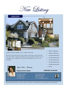New Property Listing Flyer  Free Flyer Designs    Free