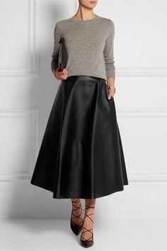 Hur man bär en midi kjol på vintern, 50 snyggaste Midikjolar