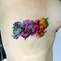 Watercolor Tattoo Color Saturated - breathe Ward at Pens and Needles Tattoo - http://www.pens-needles.com/