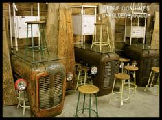 Tractor hood tables ~ Frenzied Gypsy Marketplace Shopping at the High Point Furniture Market!