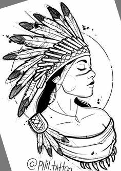 american indian native easy drawings drawing pencil bruna luisa americans